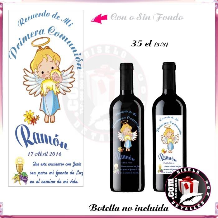 Botellas De Vino Para Regalar En Bautizos.Adhesivo De Vinilo Transparente Para Botella Vino 3 8 35 Cl