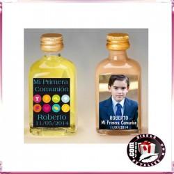 Botellas de Licor Personalizadas para Comuniones