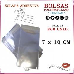 Bolsa Celofán Solapa Adhesiva 7 x 10 cm (200 Uds)