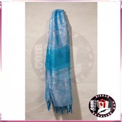 Pashmina Azul con Flecos