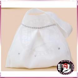 Bolso Novia Blanco con Cadena de Strass