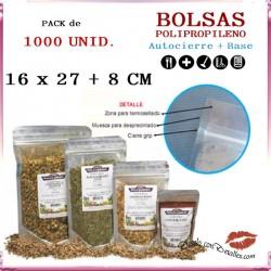 Bolsa Celofán con Autocierre + Base 160 + 80 x 270 mm (1000 uds)