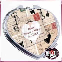 Espejos Corazón Personalizados para Bodas