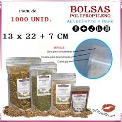 Bolsa Celofán con Autocierre + Base 130 + 70 x 225 mm (1000 uds)