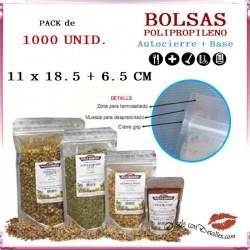 Bolsa Celofán con Autocierre + Base 110 + 65 x 185 mm (1000 uds)