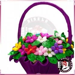 Cesta para Flores de Chocolate