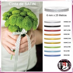 Cinta de Satén Decorativa 6mm x 25m