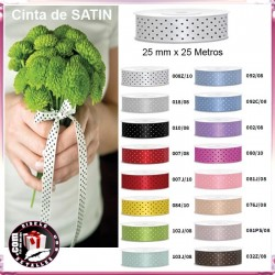 Cinta de Satén Decorativa 25mm x 25m