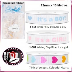 Cinta Grosgrain Ribbon 12mm x 10 mt