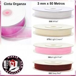 Cinta de Organza de 3 mm X 50 Metros