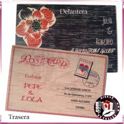Invitación de Bodas en Madera