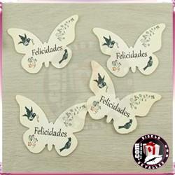 Mariposas en Cartón Pluma 7 x 10 cm