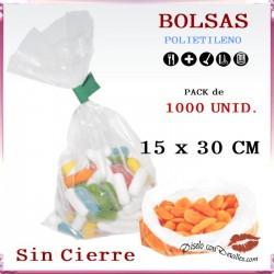 Bolsas Polietileno 15 x 30 cm (1000 uds)