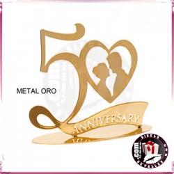 Figura Metal 50 Aniversario Oro