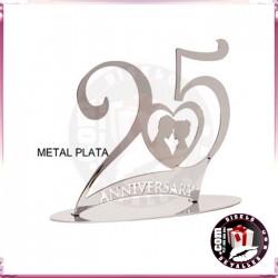 Figura de Metal 25 Aniversario Plata