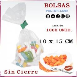 Bolsas Polietileno 10 x 15 cm (1000 uds)