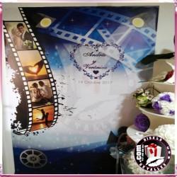 Lona Photocall Cine 1.20 x 2 metros