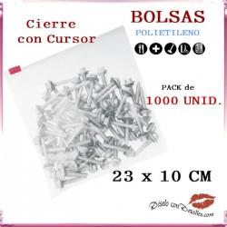 Bolsas Cierre Cursor 23 x 10 cm (1000 uds)