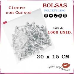 Bolsas Cierre Cursor 20 x 15 cm (1000 uds)