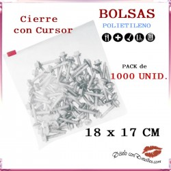 Bolsas Cierre Cursor 18 x 17 cm (1000 uds)