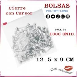 Bolsas Cierre Cursor 12.5 x 9 cm (1000 uds)