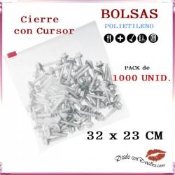 Bolsas Cierre Cursor 32 x 23 cm (1000 uds)