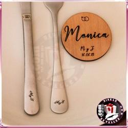 Meseros de Madera 5 cm