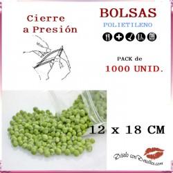 Bolsas con Autocierre 12 x 18 cm (1000 uds)