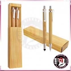 Set Bolígrafo Touch y Portaminas de Bambú
