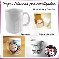 Taza Blanca Sublimada y Personalizada