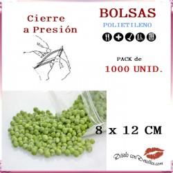 Bolsas con Autocierre 8 x 12 cm (1000 uds)