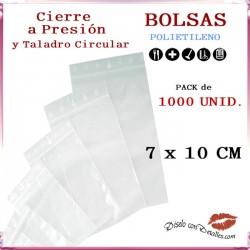 Bolsas Autocierre con Taladro Circular 7 x 10 cm (1000 uds)