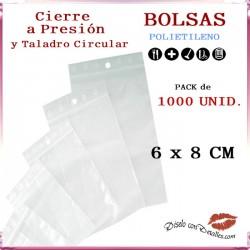 Bolsas Autocierre con Taladro Circular 6 x 8 cm (1000 uds)