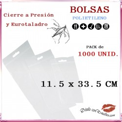 Bolsas Autocierre con Eurotaladro 11.5 x 33.5 cm (1000 uds)