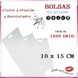 Bolsas Autocierre con Eurotaladro 10 x 15 cm (1000 uds)