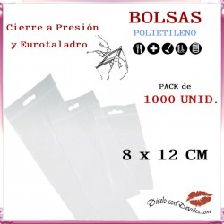 Bolsas Autocierre con Eurotaladro 8 x 12 cm (1000 uds)