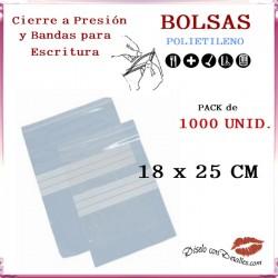 Bolsas Autocierre y Bandas Escritura 18 x 25 cm (1000 uds)