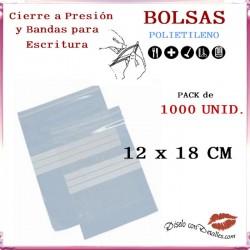 Bolsas Autocierre y Bandas Escritura 12 x 18 cm (1000 uds)