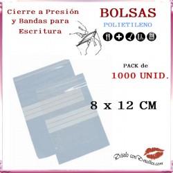 Bolsas Autocierre y Bandas Escritura 8 x 12 cm (1000 uds)