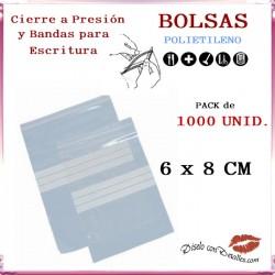 Bolsas Autocierre y Bandas Escritura 6 x 8 cm (1000 uds)