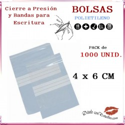 Bolsas Autocierre y Bandas Escritura 4 x 6 cm (1000 uds)