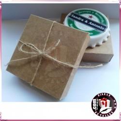 Caja Kraft 8,5 x 8,5 x 2,5 cm