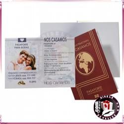 Invitación de Bodas en forma de pasaporte