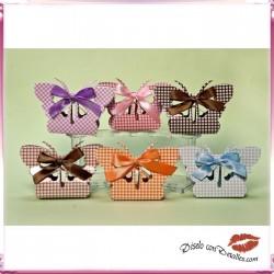 Caja de Cartón Mariposas