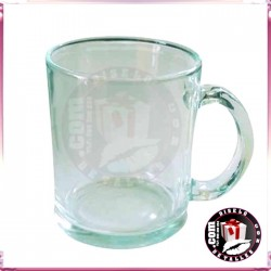 Taza Cristal transparente Sublimada y Personalizada
