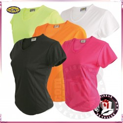Camisetas Colores 100% Poliester Mujer 145grs