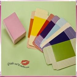 Caja a cuadritos Colores Surtidos