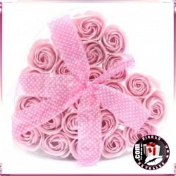 Conjunto de 24 Flores de Sabonetes Rosa