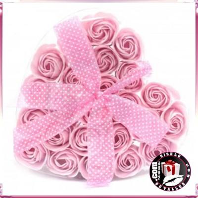 Set de 24 Flores de Jabón Rosas
