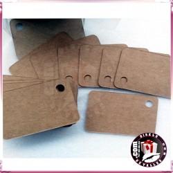 Tarjetas rectangulares Kraft  para Regalos